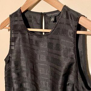 Banana Republic Black Satin Striped Tank Top